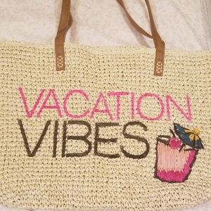 INC International Concepts Bags - INC Vacation Vibes Straw Tote Bag New